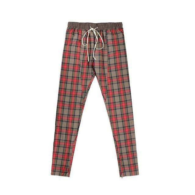 PLAID Trackpants-PANTS-URBANYOO