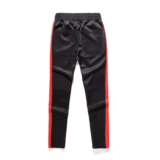 RETRO Joggers Black/Red-PANTS-URBANYOO
