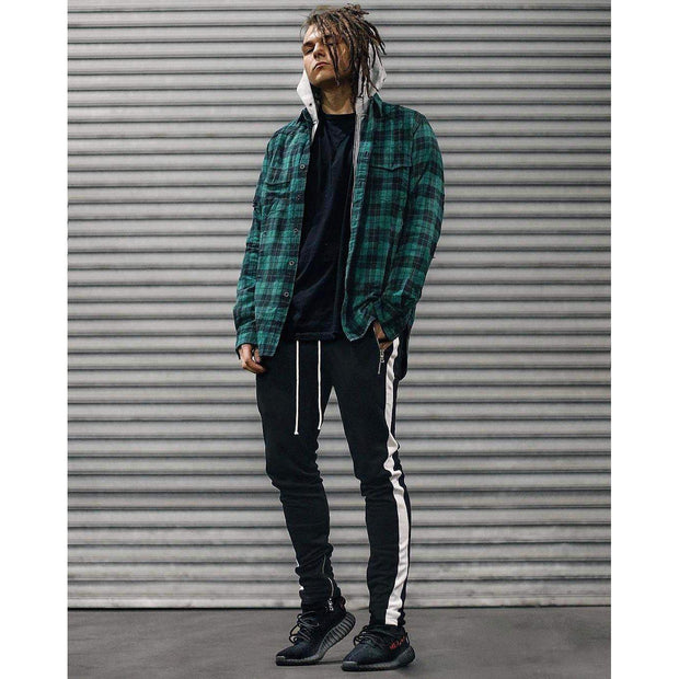RETRO Joggers Black/White-PANTS-URBANYOO