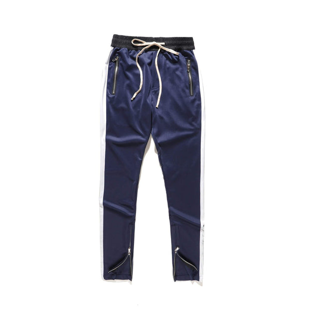 RETRO Joggers Blue/White-PANTS-URBANYOO