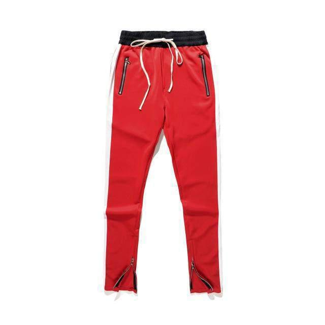 RETRO Joggers Red/White-PANTS-URBANYOO