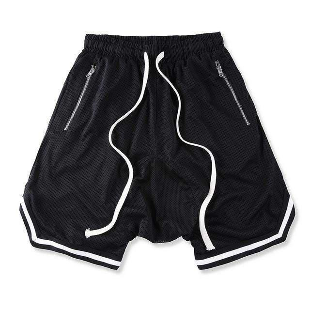 RETRO MESH Shorts Black-SHORT-URBANYOO