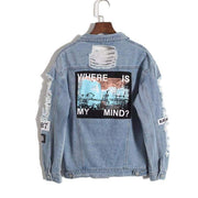 WHERE IS MY MIND Denim Jacket-JACKETS-URBANYOO