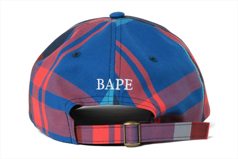 BAPE CHECK PANEL CAP