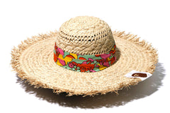 ABC CAMO FLOWER STRAW HAT
