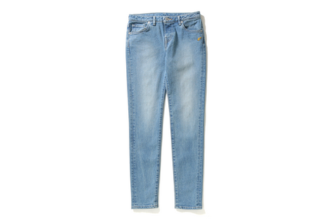APE HEAD WASHED SKINNY DENIM PANTS