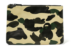 1ST CAMO  LEATHER  CLUTCH