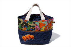 ABC CAMO FLOWER TOTE BAG
