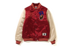 MULTI EMBLEM SATIN VARSITY JACKET