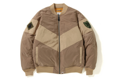 PATCHED BOMBER DOWN JACKET