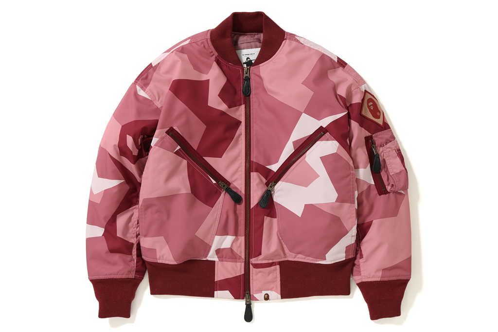 SPLINTER CAMO BOMBER JACKET