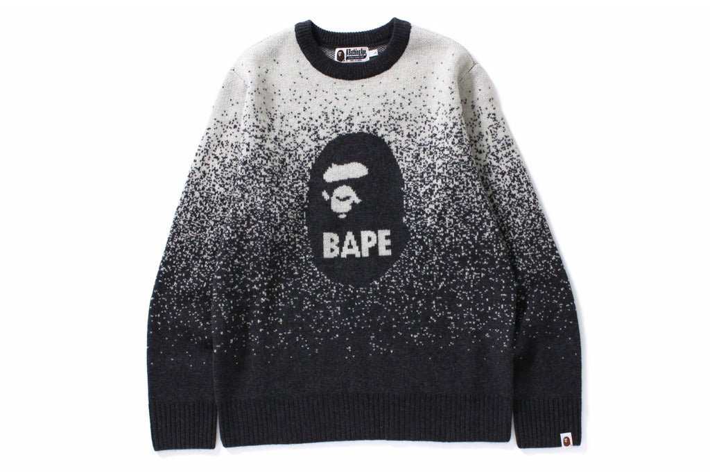 BAPE GRADATION KNIT CREWNECK
