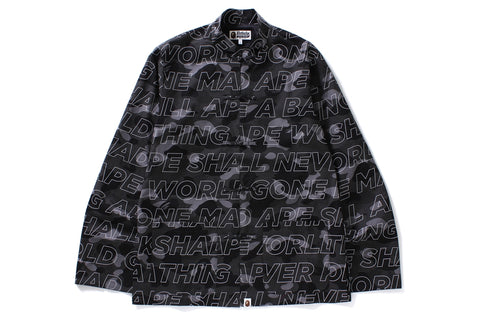TEXT COLOR CAMO CHINA JACKET