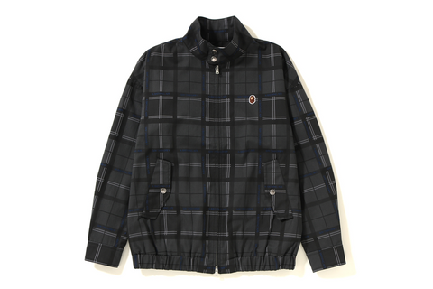 BAPE LOGO CHECK HARRINGTON JACKET