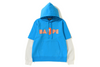 LAYERED MAD FACE WIDE PULLOVER HOODIE