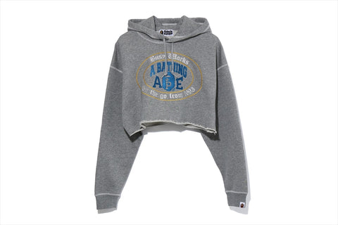 COLLEGE LOGO CUT OFF PULLOVER HOODIE