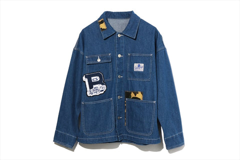 PATCHWORK DENIM COVERALL