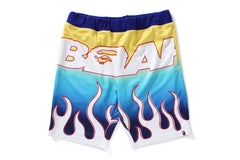 BAPE FLAME AOP SHORTS