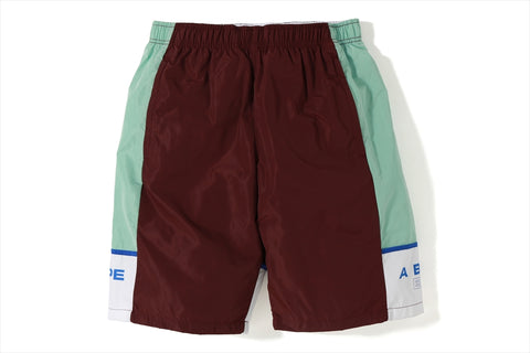 COLOR BLOCK TRACK SHORTS