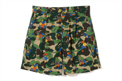 ABC CAMO FLOWER SHORTS