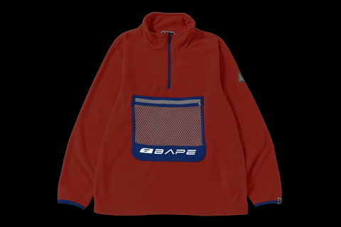 HALF ZIP WIDE FLEECE TOP