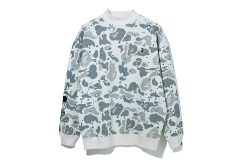SPACE CAMO MOCK NECK OVERSIZED CREWNECK