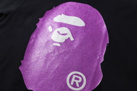 GLITTER BIG APE HEAD TEE