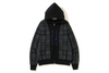 RELAXED BAPE LOGO CHECK FULL ZIP HOODIE