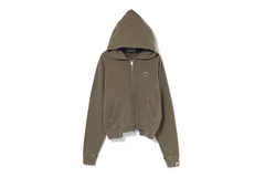 WASHED WIDE PANEL ZIP HOODIE