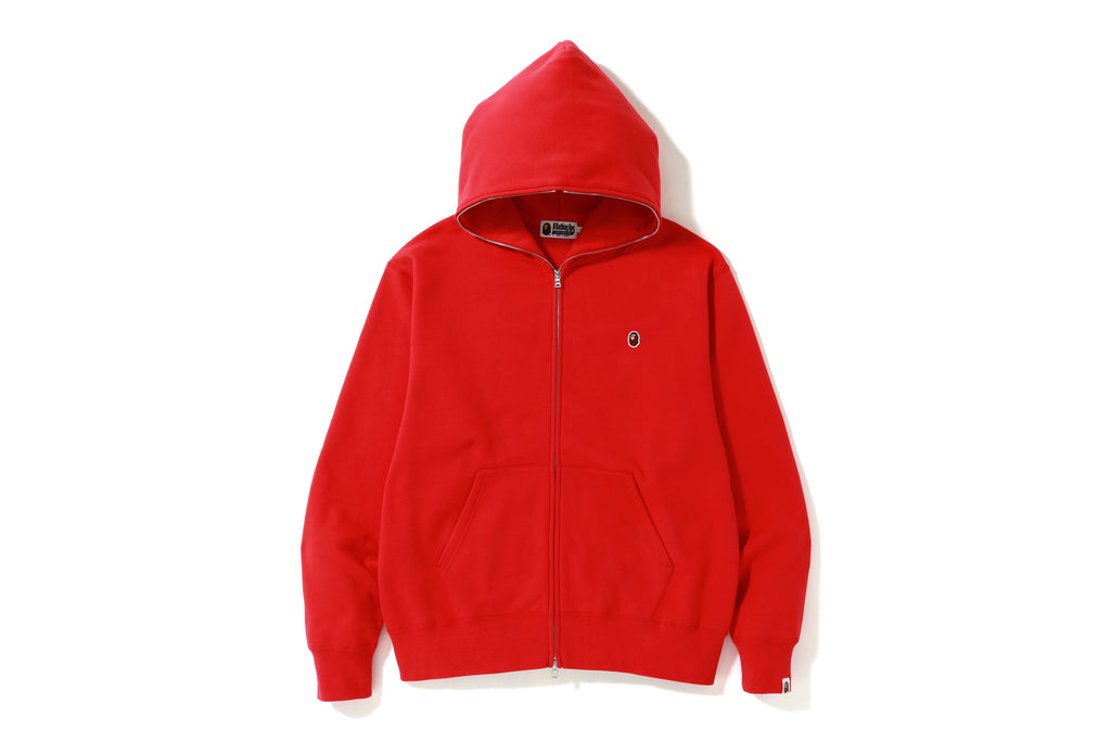 RELAXED FIT ONE POINT FULL ZIP HOODIE