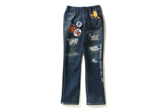 MILO DAMAGED DENIM PRINT PANTS