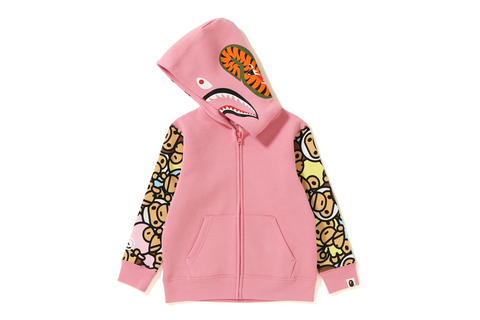 ALL BABY MILO MILO SHARK ZIP HOODIE