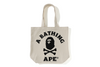 APE CROSSBONE COLLEGE TOTE BAG