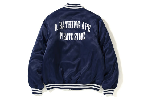 PIRATE ARCH LOGO SATIN VARSITY JACKET