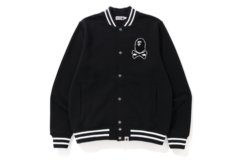 APE CROSSBONE SWEAT VARSITY JACKET