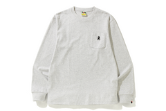 APE CROSSBONE ONE POINT POCKET L/S TEE