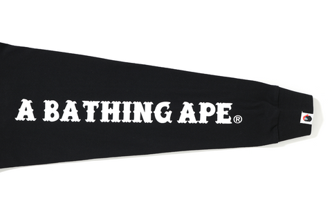 A BATHING APE CROSSBONE L/S TEE