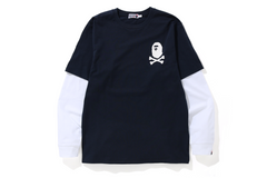 APE CROSSBONE LAYERED L/S TEE
