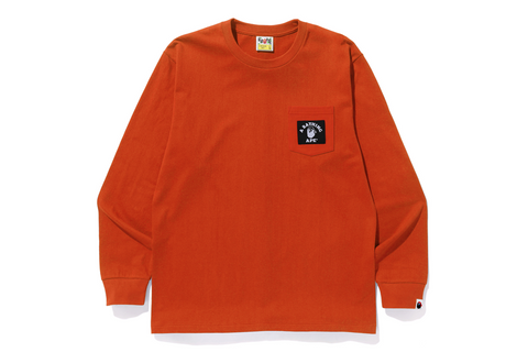 PIRATE COLLEGE LABEL POCKET L/S TEE