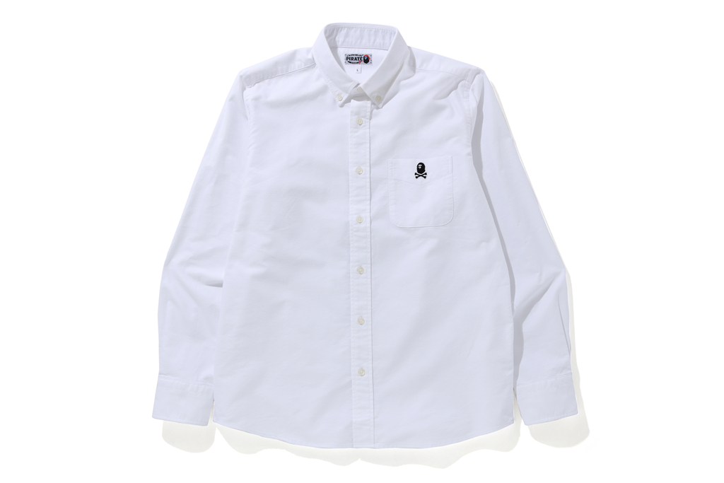 APE CROSSBONE OXFORD SHIRT