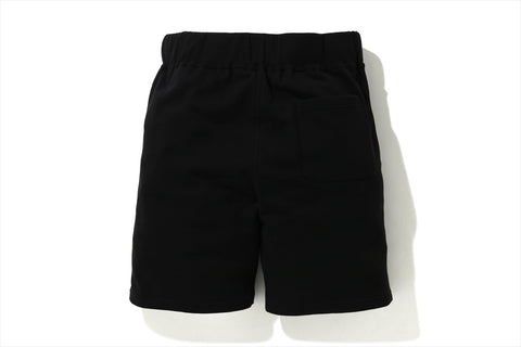 APE CROSSBONE EMBLEM SWEAT SHORTS