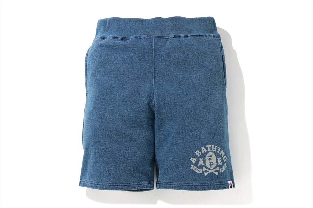 INDIGO APE CROSSBONE  SWEAT SHORTS