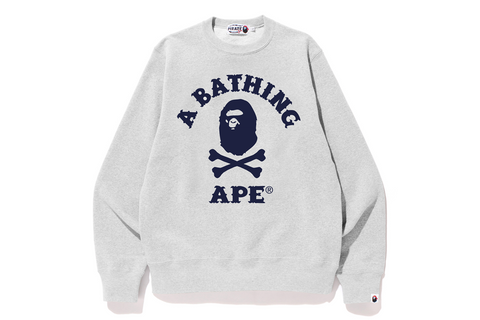 APE CROSSBONE COLLEGE CREWNECK