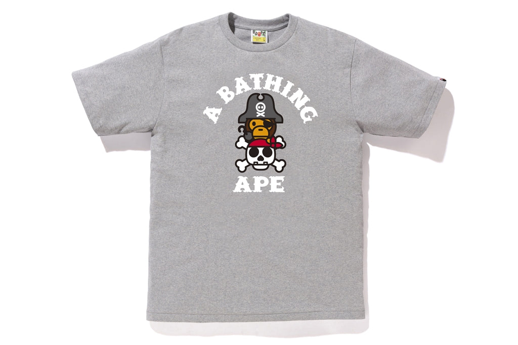 CAPTAIN MILO ON BONE TEE