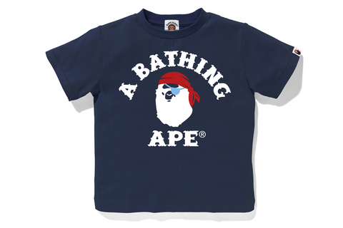 APE PIRATE COLLEGE TEE