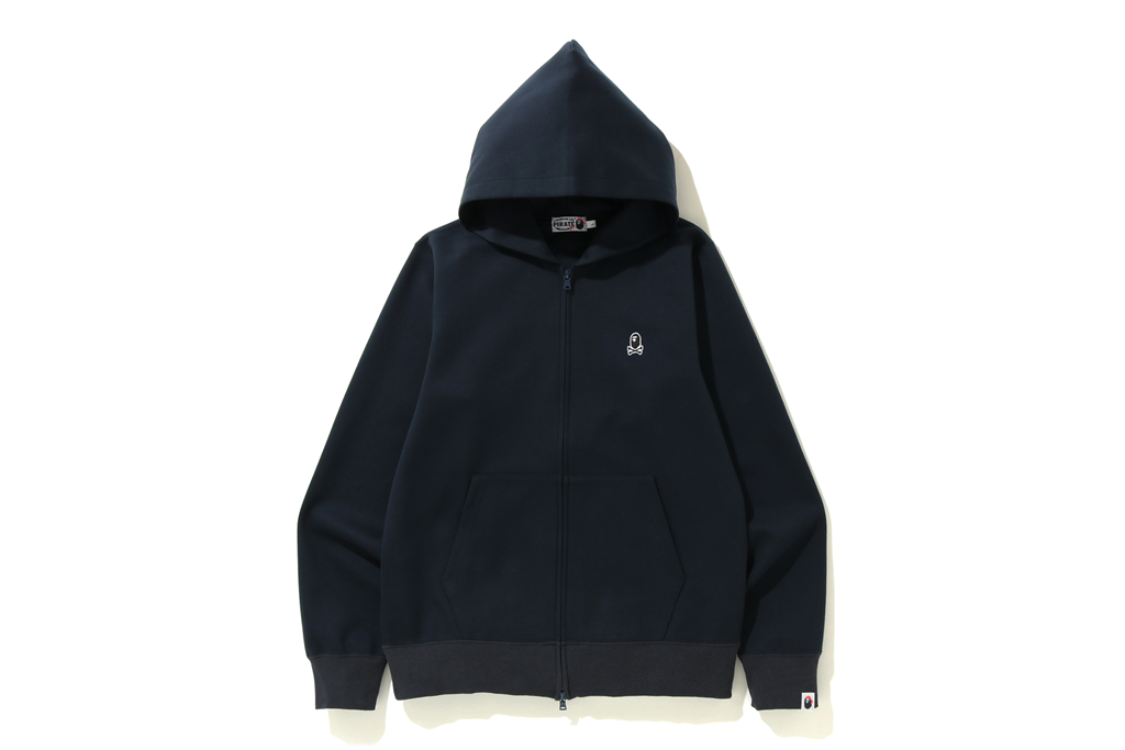 DOUBLE KNIT ONE POINT ZIP HOODIE