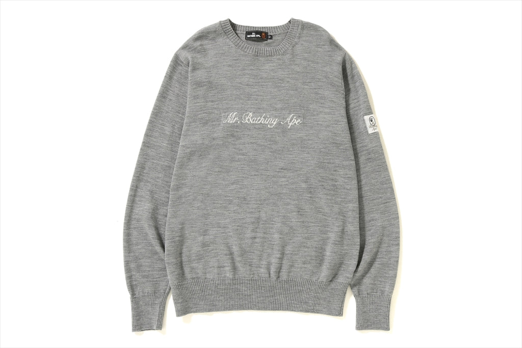 ONE POINT CREWNECK KNIT