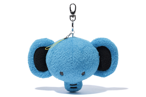 KEYCHAIN FACE PLUSH ELEPH