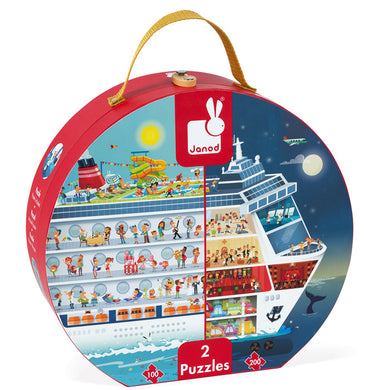 Cruise Ship Dual Suitcase Puzzle