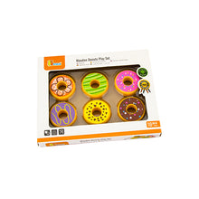 Wooden Toy Iced Donut Set of 6